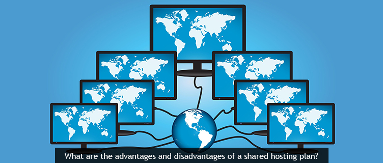 What are the advantages and disadvantages of a shared hosting plan?